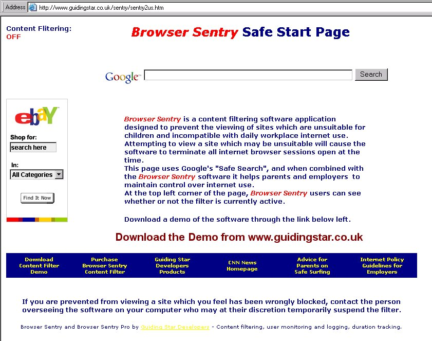 Browser Sentry Content Filter 2.2 full